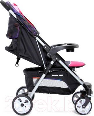Детская прогулочная коляска Happy Dino LC360 (красный) - общий вид
