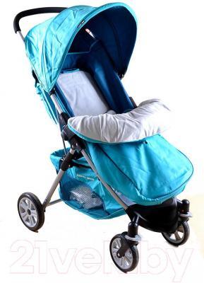 Детская прогулочная коляска Happy Dino LC360 (бирюзовый) - общий вид