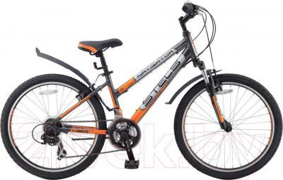 Велосипед Stels Navigator 450 V (24, серо-оранжево-серебристый)