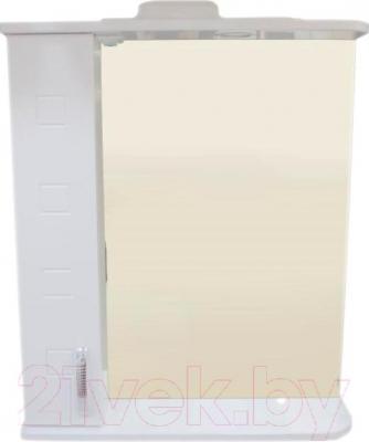 Зеркало для ванной Кветка Квадрат П-600.2 (левая, белый)