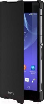 Чехол-книжка Sony SCR10B (черный) - общий вид