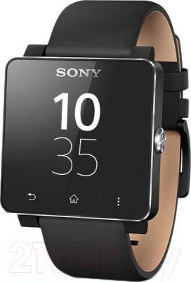 Ремешок Sony SE20LB (черный) - вид с часами