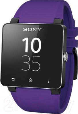 Ремешок Sony SE20V (фиолетовый) - вид с часами