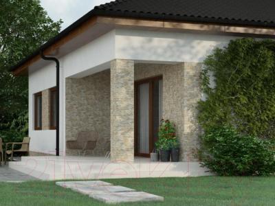 Фасад клинкерный Cerrad Stone Aragon Marengo (450x150)