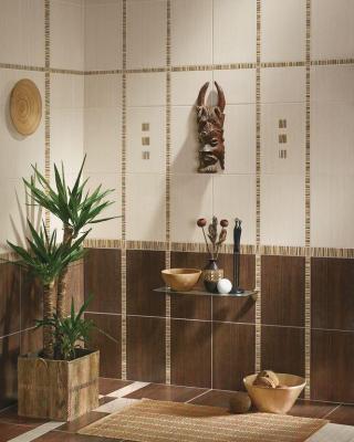 Бордюр для ванной Azori Оригами Мокка-Прагматика (278x50)