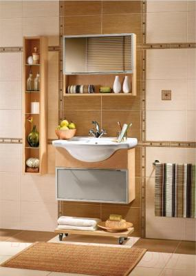 Плитка для пола ванной Azori Оригами Табакко (333x333)