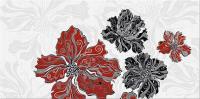Декоративная плитка для ванной Azori Валькирия Цветы 2 (405x201) -