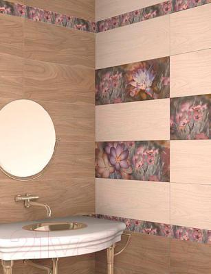Декоративная плитка Azori Асти Бьянка Папоротник (405x201)