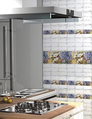 Декоративная плитка для кухни Azori Лофт Лила (405x201)