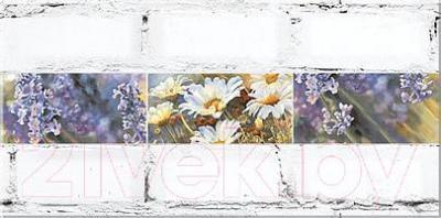 Декоративная плитка Azori Лофт Мальва (405x201)