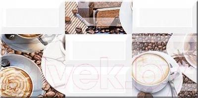 Декоративная плитка Azori Вог Латте (405x201)