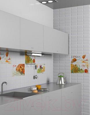 Декоративная плитка Azori Вог Олива (405x201)