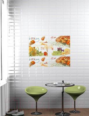 Декоративная плитка для кухни Azori Вог Рикотта (405x201)