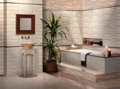 Плитка для стен ванной Нефрит-Керамика Триумф (500x250, темно-песочный)