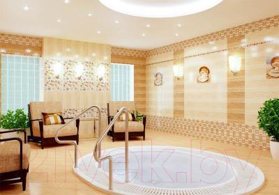 Декоративная плитка для ванной Нефрит-Керамика Аликанте 1 (500x250, бежевый)