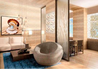 Декоративная плитка для ванной Нефрит-Керамика Аликанте (500x250, бежевый)