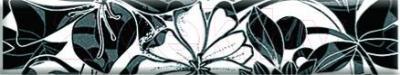 Бордюр для ванной Нефрит-Керамика Кураж 2 Жаклин (400x75, черный)
