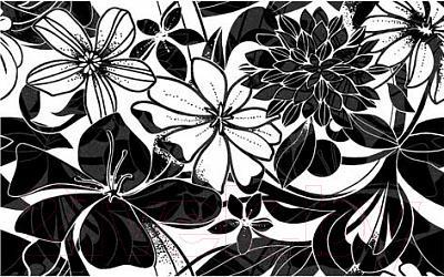 Декоративная плитка для ванной Нефрит-Керамика Кураж 2 Жаклин (400x250, черный)