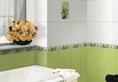 Декоративная плитка для ванной Нефрит-Керамика Кураж 2 Монро (400x250, салатовый)