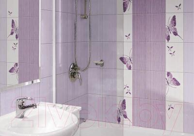 Плитка для пола ванной Нефрит-Керамика Кураж 2 (330x330, фиолетовый)
