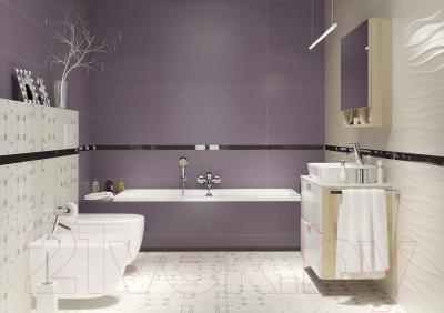 Бордюр для ванной Opoczno Basic Palette Black OD631-046 (600x48)