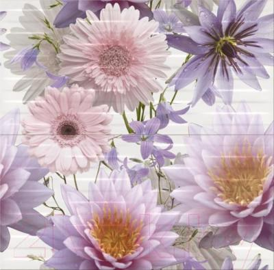Декоративная плитка Opoczno Панно Basic Palette Chinese Asters Flower OD359-006 (600x594)