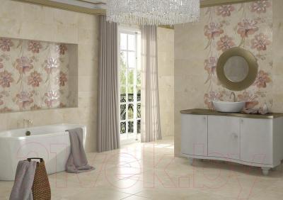 Декоративная плитка Opoczno Панно Lazio White Flower WD282-008 (593x583)