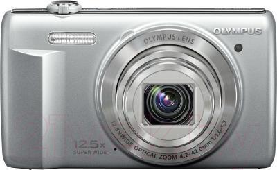 Компактный фотоаппарат Olympus VR-370 (серебристый)