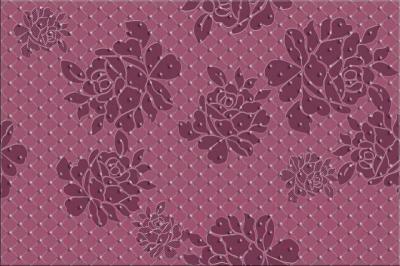 Декоративная плитка Opoczno Baricello Fiolet Flower OD021-013 (450x300)