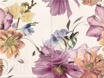 Декоративная плитка Opoczno Панно Lorena Summer Time White Flower OD025-044 (600x450)