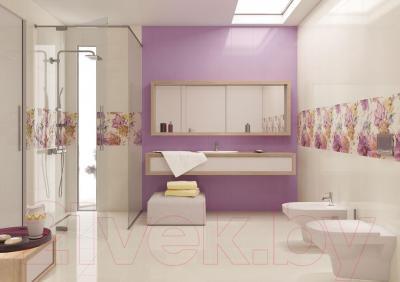 Декоративная плитка для ванной Opoczno Панно Lorena Summer Time White Flower OD025-044 (600x450)