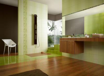 Бордюр для ванной Opoczno Calipso Zielona Mosaic OD022-020 (450x28)