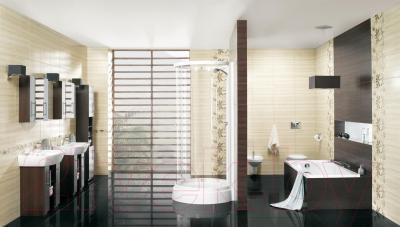 Декоративная плитка для ванной Opoczno Aleksandria Krem Flower OD020-008 (450x300)