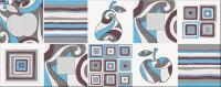 Декоративная плитка для кухни Opoczno Penne Blue 1 OD018-010 (500x200) -