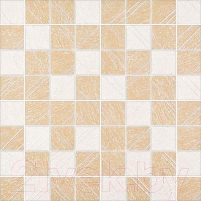 Декоративная  плитка для пола Opoczno Tripolis Kremowo-Bezowa Mozaika OD315-004 (396x396)