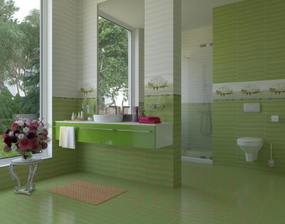 Плитка для стен ванной Opoczno Flora Зеленая (450x300)