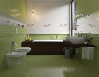 Декоративная плитка для ванной Opoczno Flora Магнолия (450x300)