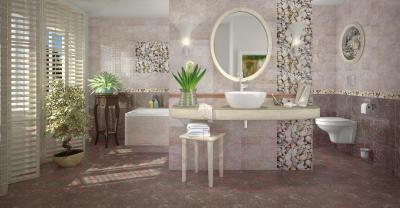 Плитка для стен ванной Opoczno Nizza Браун Структурная 1 (450x300)