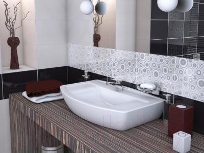 Бордюр для ванной Cersanit Синтия Неро (250x50)