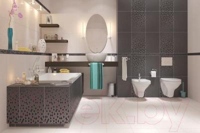 Бордюр для ванной Cersanit Vanessa Неро (300x54)