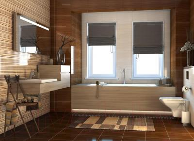 Бордюр для ванной Cersanit Miranda Батерфляй (400x30)
