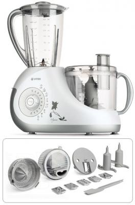 Кухонный комбайн Vitek VT-1616 PR - общий вид с насадками