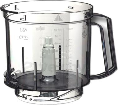 Кухонный комбайн Braun Multiquick 5 K700 (White) - основная чаша