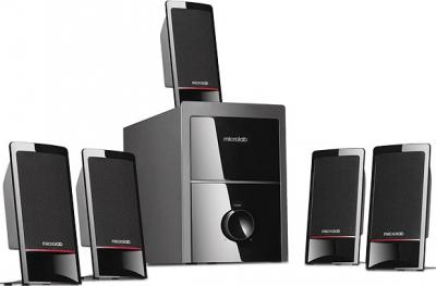 Мультимедиа акустика Microlab M 700 5.1 (черный) - общий вид