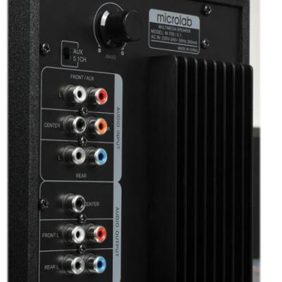 Мультимедиа акустика Microlab M 700 5.1 (черный) - вид сзади