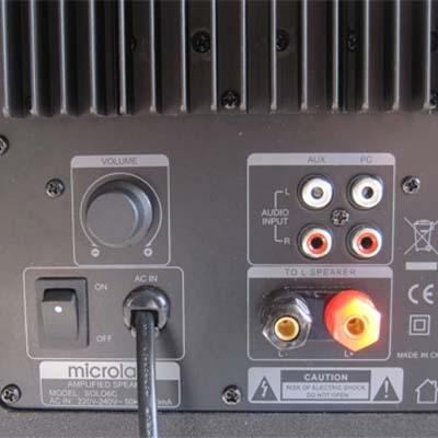 Мультимедиа акустика Microlab Solo 6C (дерево) - вид сзади