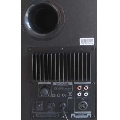 Мультимедиа акустика Microlab Solo 2C (дерево) - вид сзади