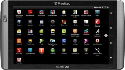 Планшет Prestigio MultiPad PMP7070C - фронтальный вид