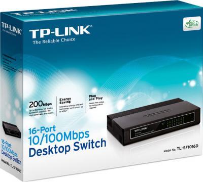 Коммутатор TP-Link TL-SF1016D - упаковка