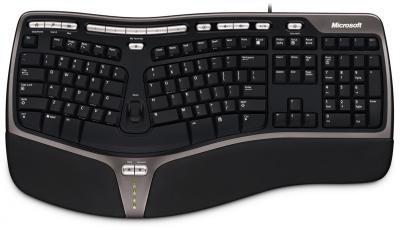 Клавиатура Microsoft Natural Ergonomic Keyboard 4000 USB - общий вид
